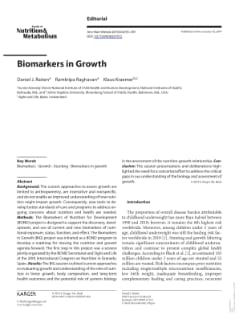 Biomarkers in Growth